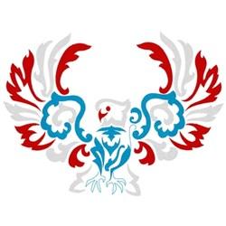 Damask Eagle embroidery design
