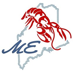 Maine embroidery design