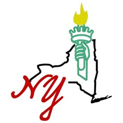 New York embroidery design