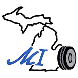 Michigan embroidery design