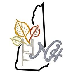 New Hampshire embroidery design