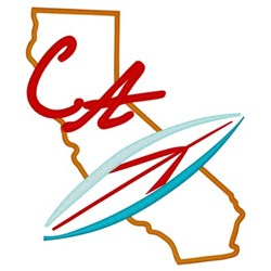 California embroidery design