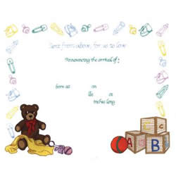 Baby Announcement embroidery design