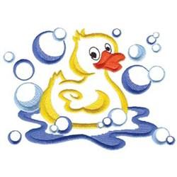Rubber Duck In Bubbles Embroidery Designs Machine