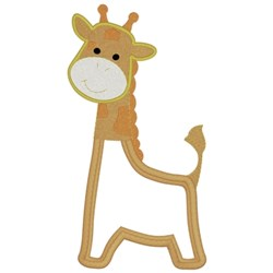Giraffe Applique embroidery design