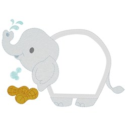 Baby Elephant Applique embroidery design