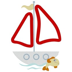 Sailboat Applique embroidery design