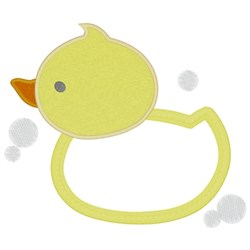 Ducky Applique embroidery design
