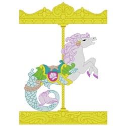 Carousel Seahorse embroidery design