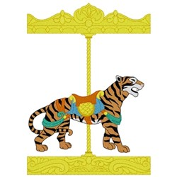 Carousel Tiger embroidery design