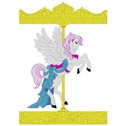 Carousel Pegasus embroidery design