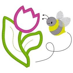 Spring Applique embroidery design