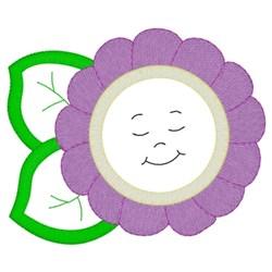 Simple Flower Applique embroidery design