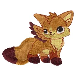 Fringe Flying Fox embroidery design