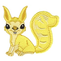 Squirrely Character embroidery design