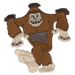 Fringe Bigfoot embroidery design