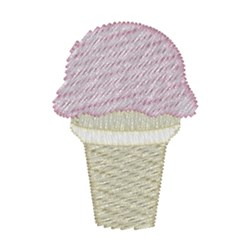 Ice Cream Cone embroidery design