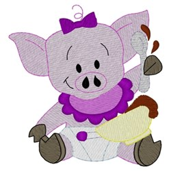 Baby Pig embroidery design