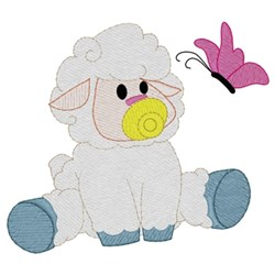 Baby Lamb embroidery design