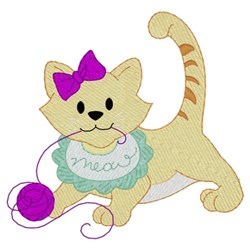 Baby Kitten embroidery design