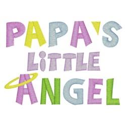 Papas Little Angel embroidery design