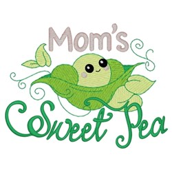 Moms Sweet Pea embroidery design