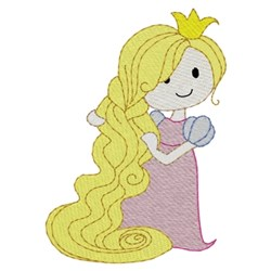 Long Hair Princess embroidery design