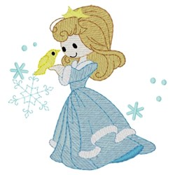 Winter Princess embroidery design