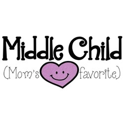 Middle Child embroidery design