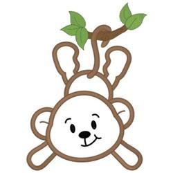 Monkey Applique embroidery design