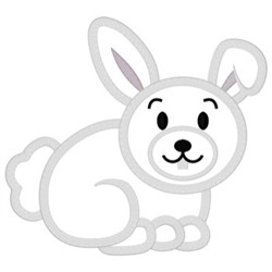 Bunny Applique embroidery design