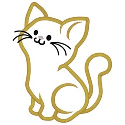 Kitten Applique embroidery design