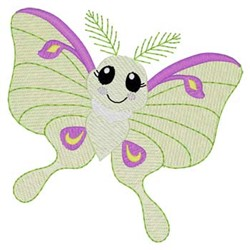 Luna Moth embroidery design