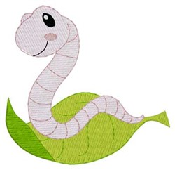 Worm On Leaf embroidery design