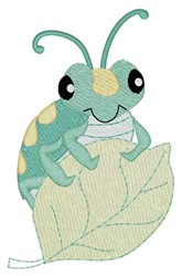 Bug On Leaf embroidery design