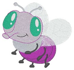 Cute Fly embroidery design