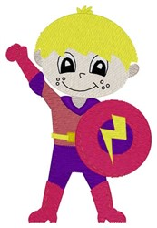Superhero Boy embroidery design
