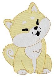Shiba Inu embroidery design