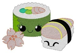 Funny Sushi embroidery design