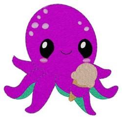 Octopus & Ice Cream embroidery design