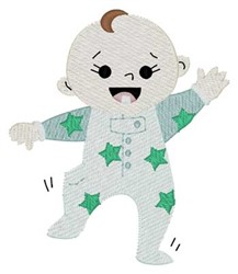 Walking Baby embroidery design