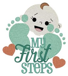 My First Steps embroidery design
