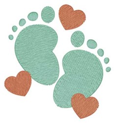 Baby Footprints embroidery design
