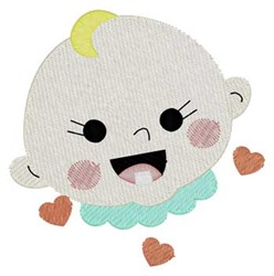 Smiling Baby embroidery design