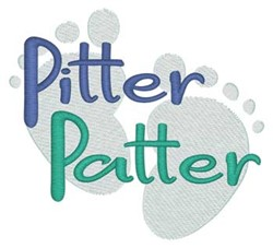 Pitter Patter embroidery design