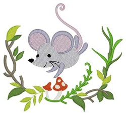 Woodland Mouse embroidery design