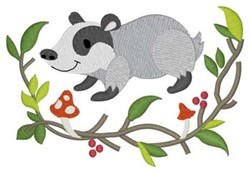 Woodland Badger embroidery design