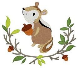 Woodland Chipmunk embroidery design