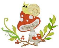 Woodland Snail & Mushroom embroidery design
