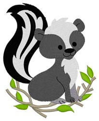Woodland Skunk embroidery design